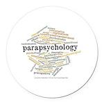 Parapsychology Wordle Round Car Magnet