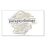 Parapsychology Wordle Sticker (Rectangle 10 pk)