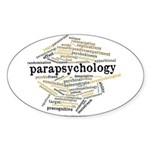 Parapsychology Wordle Sticker (Oval 50 pk)