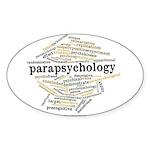 Parapsychology Wordle Sticker (Oval 10 pk)
