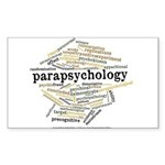 Parapsychology Wordle Sticker (Rectangle)
