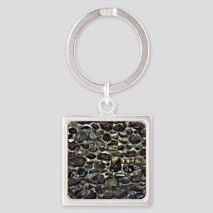 Stone Wall Square Keychain