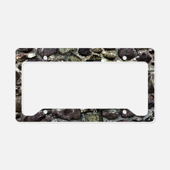 Stone Wall License Plate Holder