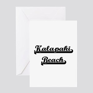 Kalapaki Beach Classic Retro Design Greeting Cards