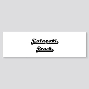 Kalapaki Beach Classic Retro Design Bumper Sticker