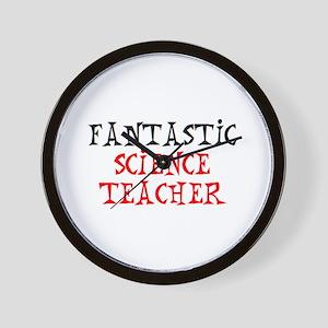 fantastic science teacher Wall Clock