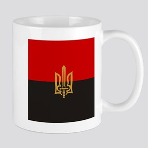Stylized Tryzub And Red-Black Flag Mugs