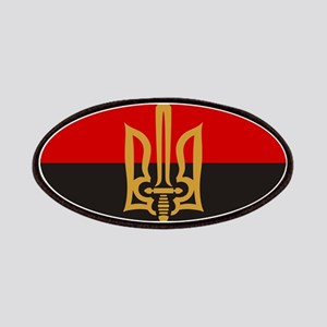 Stylized Tryzub And Red-Black Flag Patch