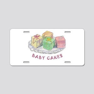 BABY CAKES Aluminum License Plate