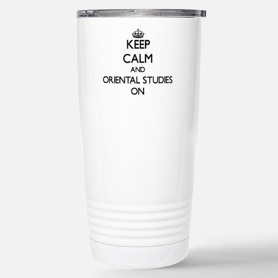 Keep Calm and Oriental Stainless Steel Travel Mug