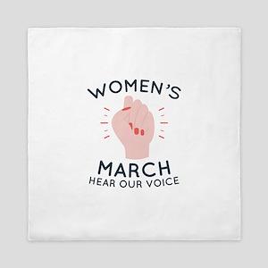 Women's March Queen Duvet