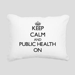 Keep Calm and Public Hea Rectangular Canvas Pillow