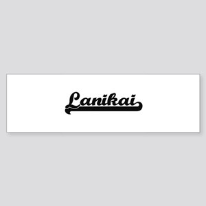 Lanikai Classic Retro Design Bumper Sticker