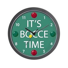 Green Bocce Ball Clock