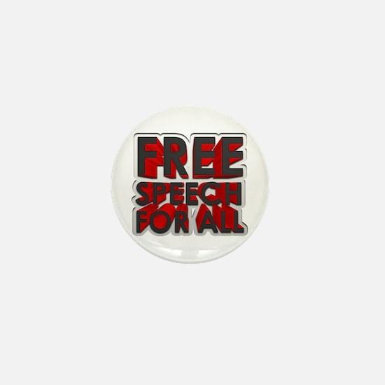 Free Speech For All Mini Button