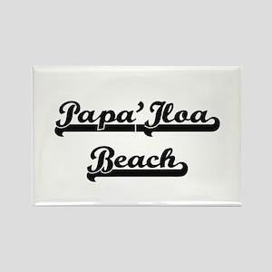 Papa'Iloa Beach Classic Retro Design Magnets