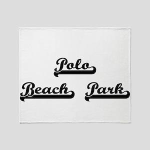 Polo Beach Park Classic Retro Design Throw Blanket