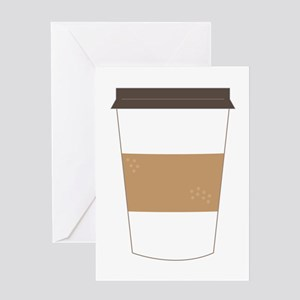 To Go Coffee Cup Greeting Cards