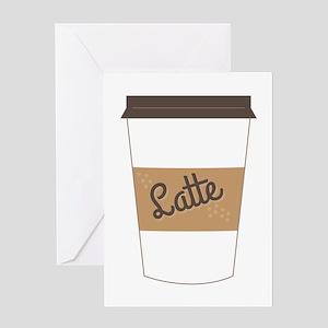 Latte Greeting Cards