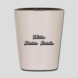 White Plains Beach Classic Retro Design Shot Glass