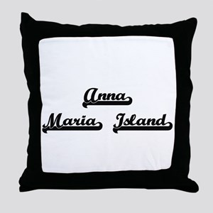 Anna Maria Island Classic Retro Desig Throw Pillow