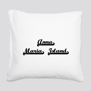 Anna Maria Island Classic Ret Square Canvas Pillow