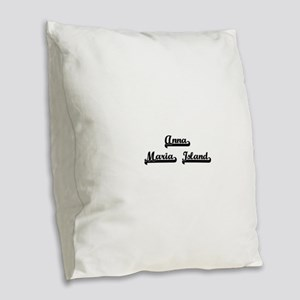 Anna Maria Island Classic Retr Burlap Throw Pillow