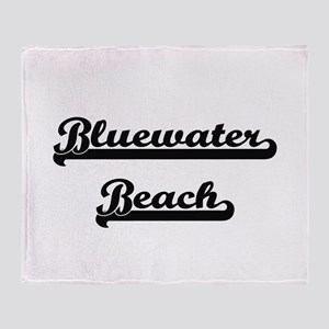 Bluewater Beach Classic Retro Design Throw Blanket