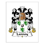 Lannoy Family Crest Small Poster