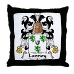 Lannoy Family Crest Throw Pillow