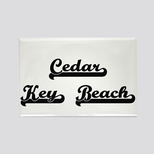 Cedar Key Beach Classic Retro Design Magnets