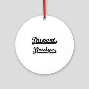 Dupont Bridge Classic Retro Desig Ornament (Round)