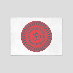 Om Sacred Sound Spiritual Meditatio 5'x7'Area Rug
