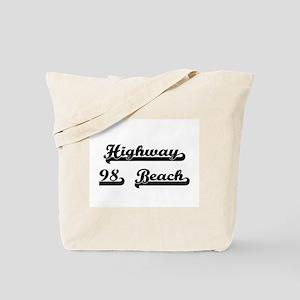 Highway 98 Beach Classic Retro Design Tote Bag