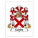 Lande Family Crest Small Poster