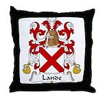 Lande Family Crest Throw Pillow