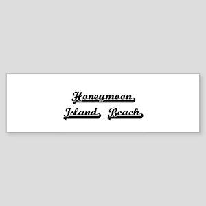 Honeymoon Island Beach Classic Retr Bumper Sticker
