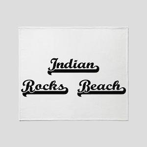 Indian Rocks Beach Classic Retro Des Throw Blanket
