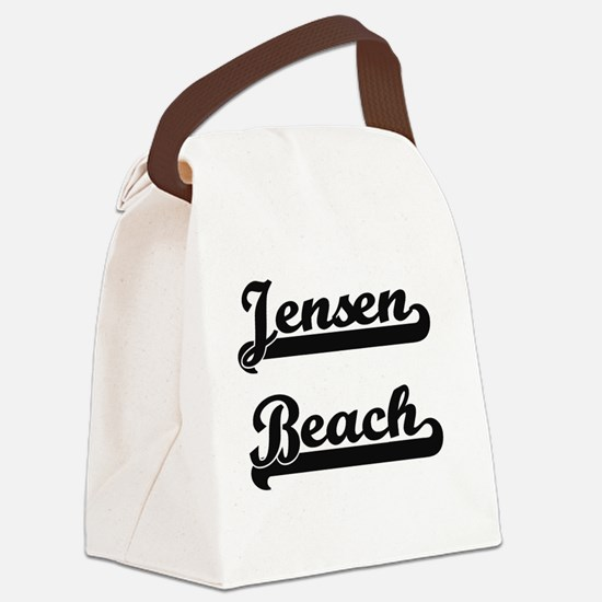 Jensen Beach Classic Retro Design Canvas Lunch Bag