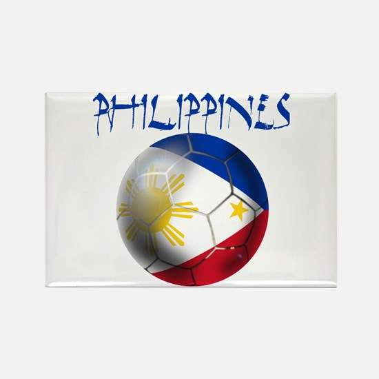 Philippines Football Rectangle Magnet