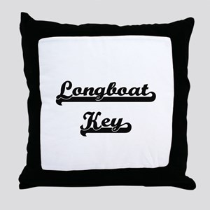 Longboat Key Classic Retro Design Throw Pillow