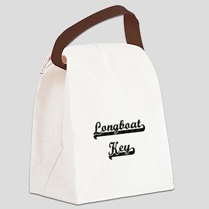 Longboat Key Classic Retro Design Canvas Lunch Bag