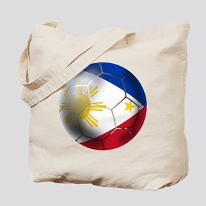Philippines Soccer Ball Tote Bag