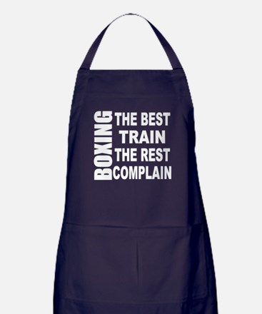 BOXING THE BEST TRAIN THE REST COMPLA Apron (dark)