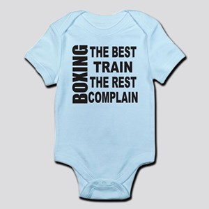 BOXING THE BEST TRAIN THE REST COM Infant Bodysuit