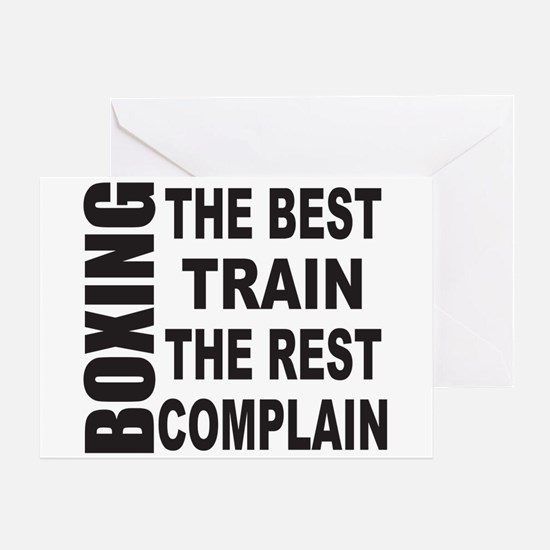 BOXING THE BEST TRAIN THE REST COMPL Greeting Card