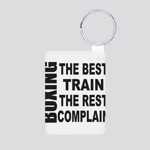 BOXING THE BEST TRAIN THE Aluminum Photo Keychain