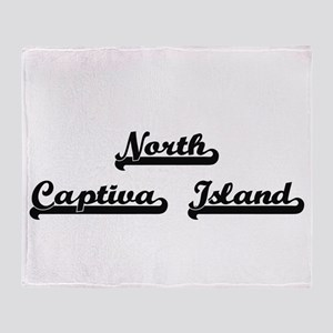 North Captiva Island Classic Retro D Throw Blanket