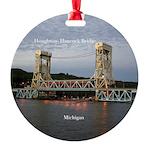 Houghton Hancock Bridge At Dusk Round Ornament
