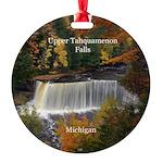 Upper Tahquamenon Falls Round Ornament